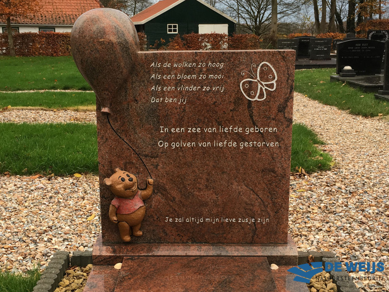 Monument voor kindergraf in Wedde